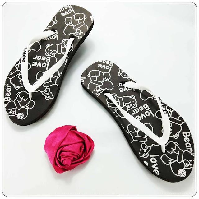 Sandal Jepit Love Bear Spon Cewe 1