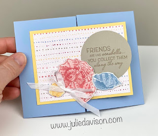 Free Online Class: 12 Sand & Sea Quick & Easy Fun Fold Cards ~ VIDEO tutorial ~ www.juliedavison.com #stampinup ~ January-June 2021 Mini Catalog
