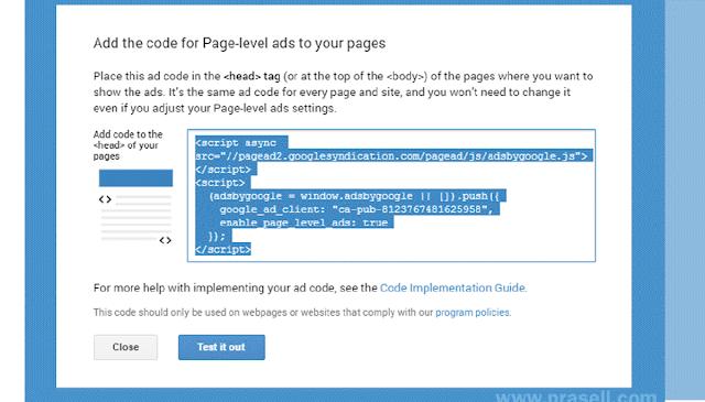 Cara Membuat Page-Level Ads Google AdSense Di Blog