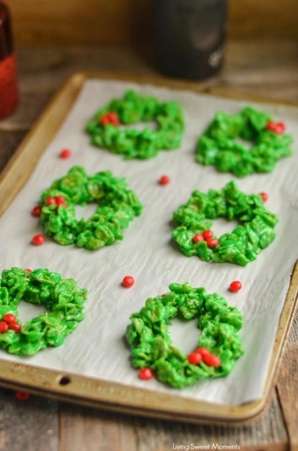 no bake christmas wreath cookies