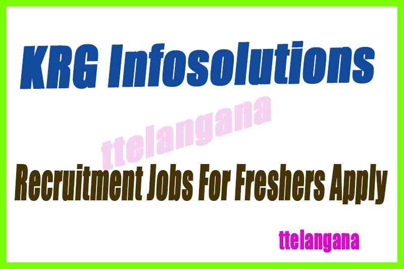 KRG Infosolutions Recruitment Jobs For Freshers Apply
