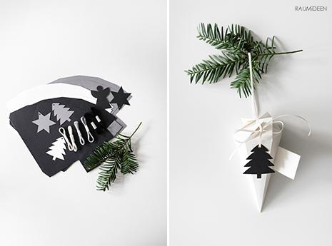 Spitztüten selber basteln - Weihnachtsdeko aus Papier (mit Vorlage)