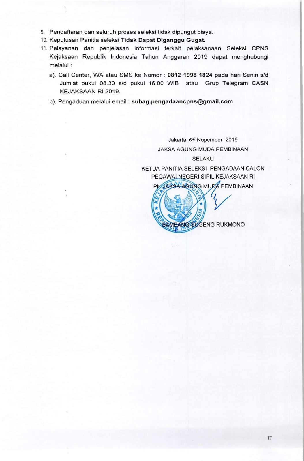 Penerimaan CPNS Kejaksaan Republik Indonesia Tahun 2019 [5203 Formasi]