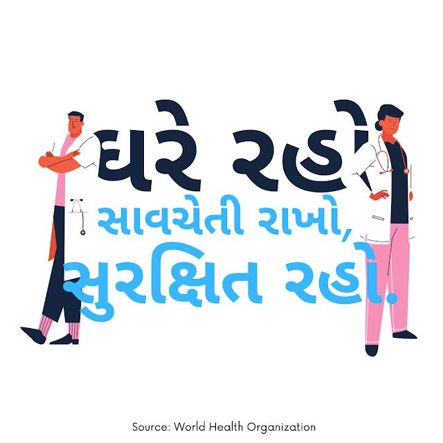 CoronaVirus tips images in Gujarati April 2020