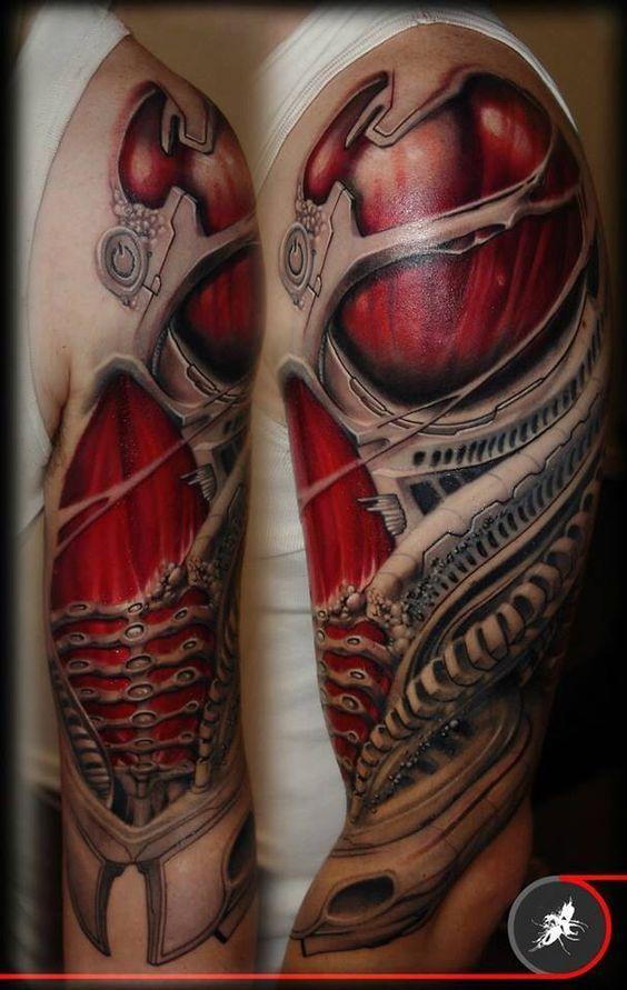 50 Increibles Tatuajes Biomecanicos En 3d Belagoria La Web De