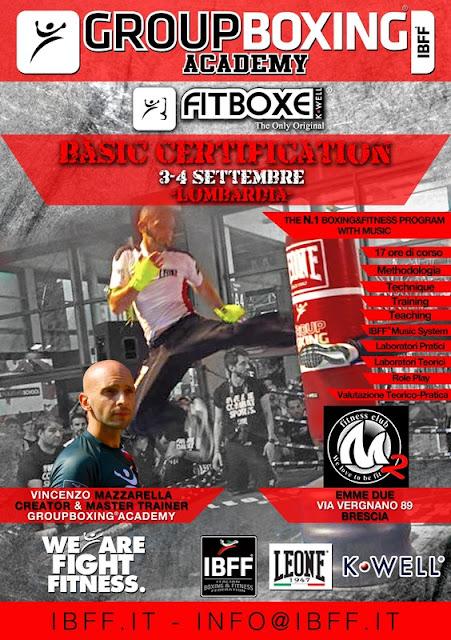 GB® FitBoxe® Basic Certification-Lombardia, 3-4 Settembre 2016 a Brescia