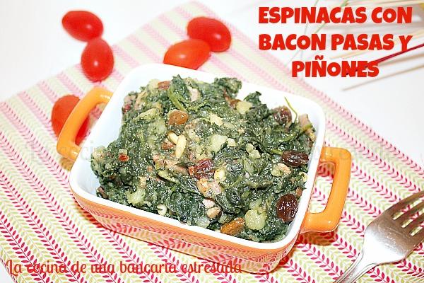 Receta de espinacas a la catalana, receta paso a paso