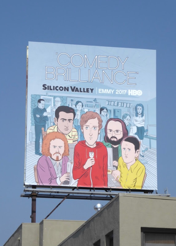 Silicon Valley Comedy Brilliance 2017 Emmy FYC billboard