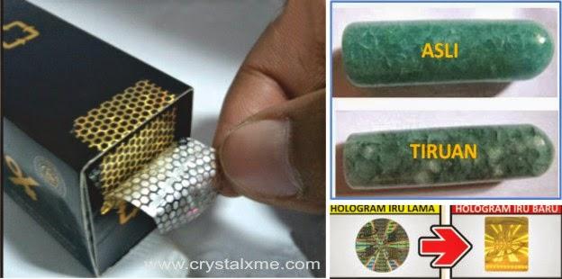 segel ciri crystal x yang asli terbaru berbentuk persegi