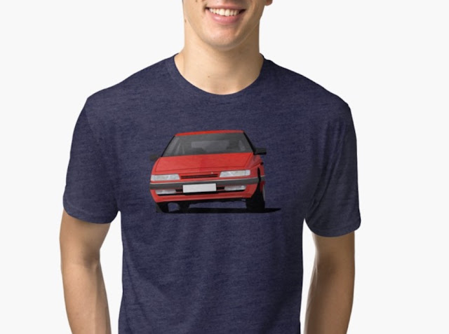 Citroen XM t-shirt in red