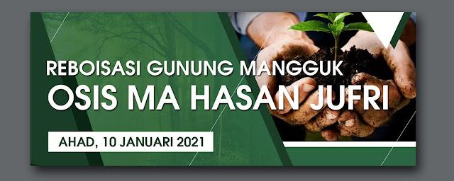 Download Banner Kegiatan Osis ( Reboisasi ) File Photoshop
