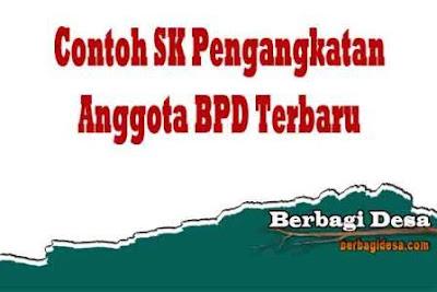 Download Contoh SK Pengangkatan Anggota BPD Terbaru 2021