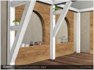 Перегородки, балки, ложные стены для строительства в Sims 4 со ссылками на скачивание