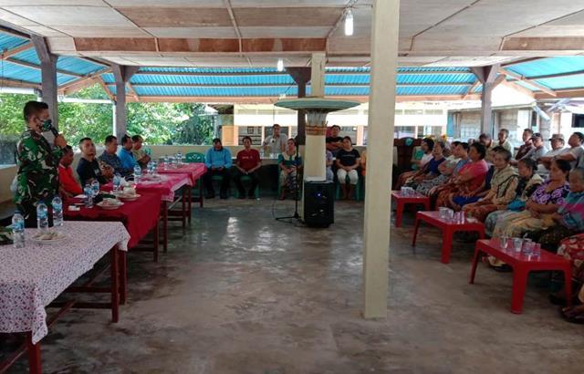 Disiplin Protokol Kesehatan Ditekankan Personel Jajaran Kodim 0207/Simalungun Pada Pesta Warga