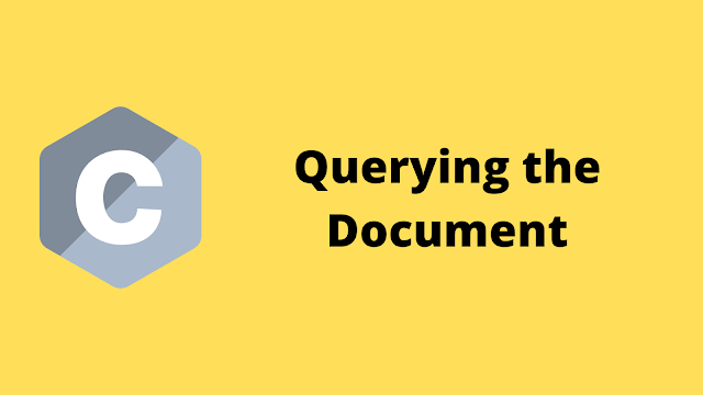 HackerRank Querying the Document solution in c programming