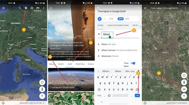 attivare il time lapse su Android