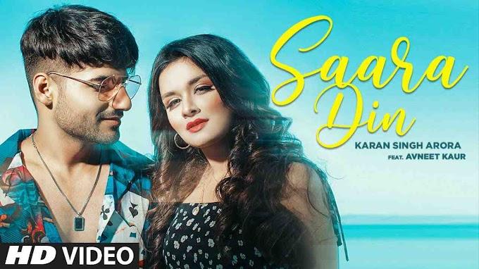 Saara Din Lyrics in English - Avneet Kaur x Karan Singh Hindi Romantic Song 2020