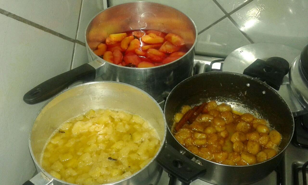 Compotas de frutas