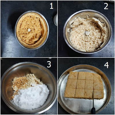 बिना चाशनी की मूंगफली काजू बर्फी (Peanut cashew barfi without sugar syrup )