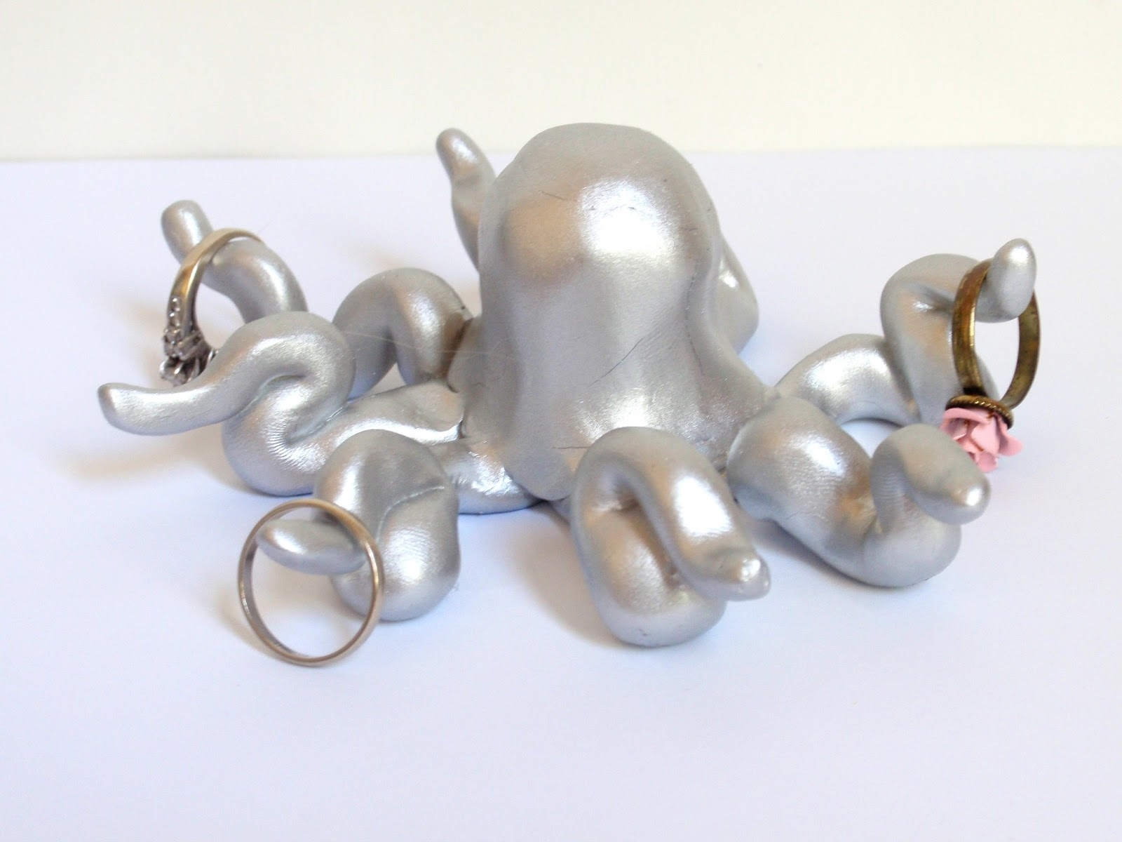 Polymer clay octopus ring holder | Craft Sew Love Grow ...