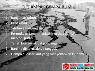 kalautau.com - Dampak Gempa Bumi