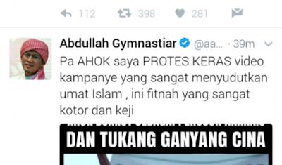 Ahok Buat Video Kampanye Sudutkan Umat Islam, Aa Gym : Pak Ahok, Saya Protes