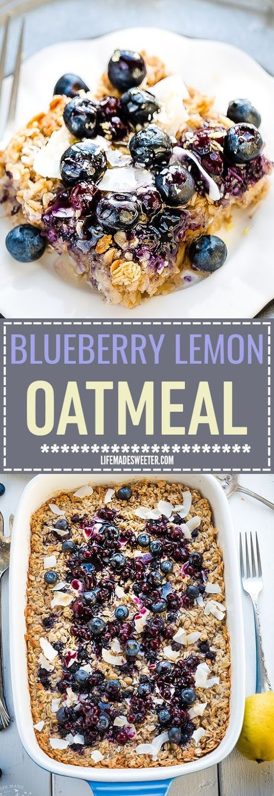 BLUEBERRY LEMON COCONUT BAKED OATMEAL