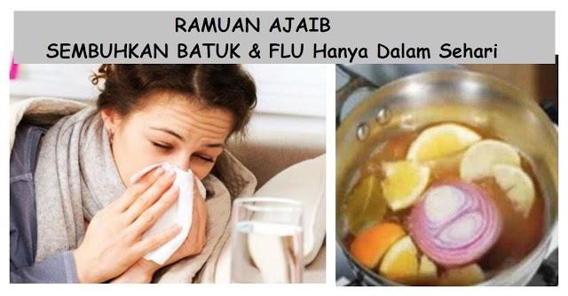 Lagi Musim BATUK & FLU !! Coba Ramuan InI Yuk.. Ajaib Sembuhkan BATUK & FLU Hanya Dalam Sehari