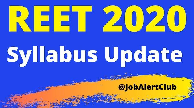 REET 2020 New Syllabus - REET Syllabus Change 2020