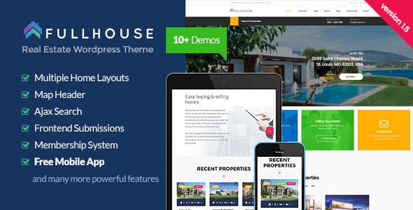 113) FullHouse V 1.6.3 - Real Estate Responsive WordPress Theme ...