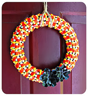 Candy Corn Halloween Wreath by Sevin Family