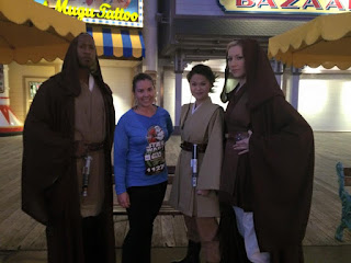 Me posing with some Jedi during the runDisney Star Wars 10k race