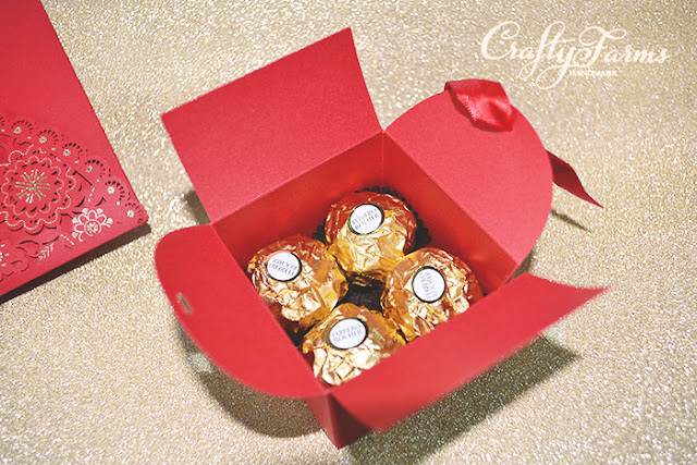 Double Happiness Red Wedding Favour Boxes for Chocolates