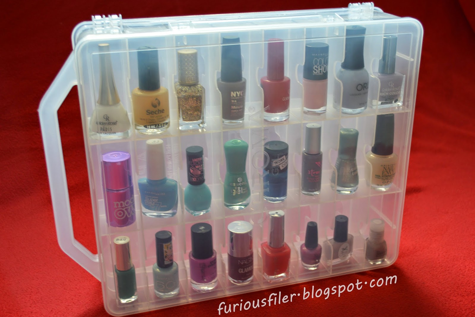 nail polish box storage lid
