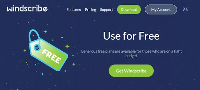Windscribe available for free to users