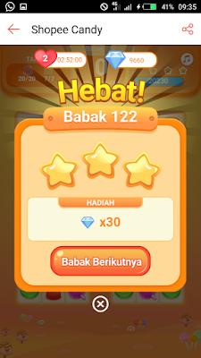 Main Game Shopee Candy Level 121 Sampai 130