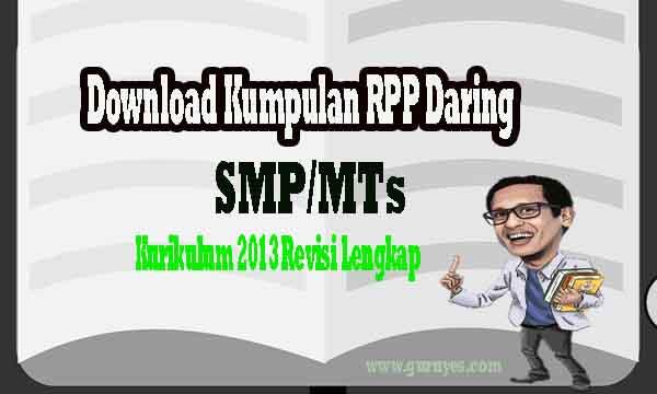 Download Kumpulan RPP Daring SMP Semua Kelas