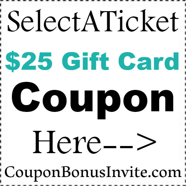 Select-A-Ticket Coupon Code 2019, SelectATicket Discount Code January, February, March, April