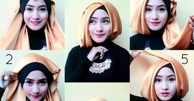 Kumpulan Gambar Tutorial Hijab Pashmina Satin Untuk Pesta Pernikahan Hijab Trendz Fashion