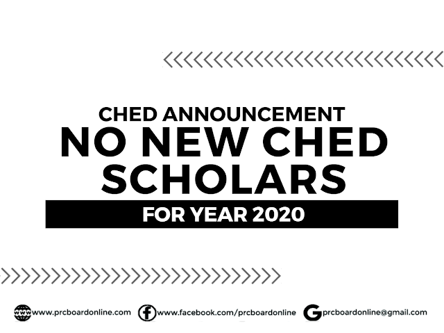 "CHED : "" No New Scholars this 2020"""