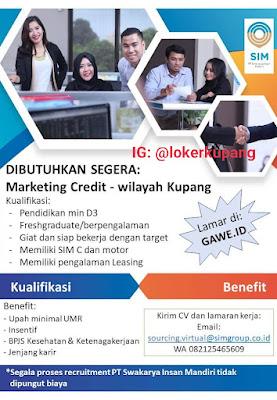 Lowongan Kerja PT Swakarya Insan Mandiri Sebagai Marketing Credit