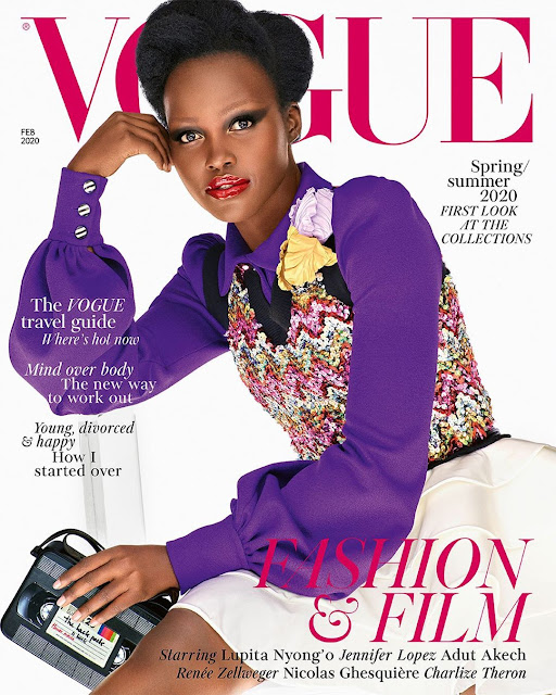 Lupita Nyong'o Looks Divine on the February Fashion & Film Cover for British Vogue
