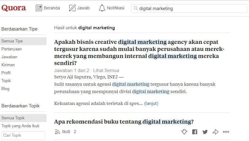 Media sosial tanya jawab Quora