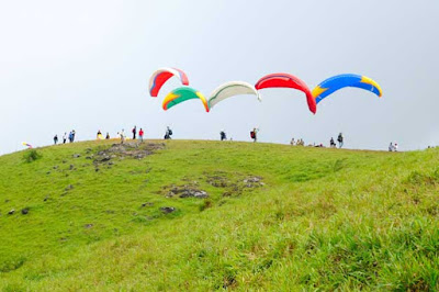 Paragliding facility at Vagamon, Kottayam