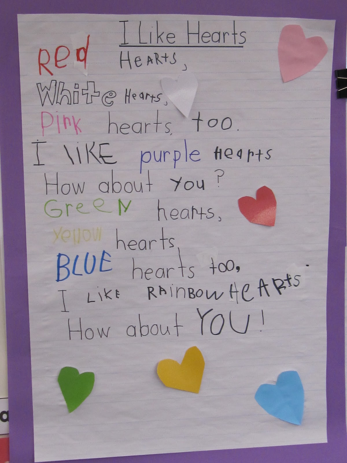 Kc Kindergarten Times I Like Hearts