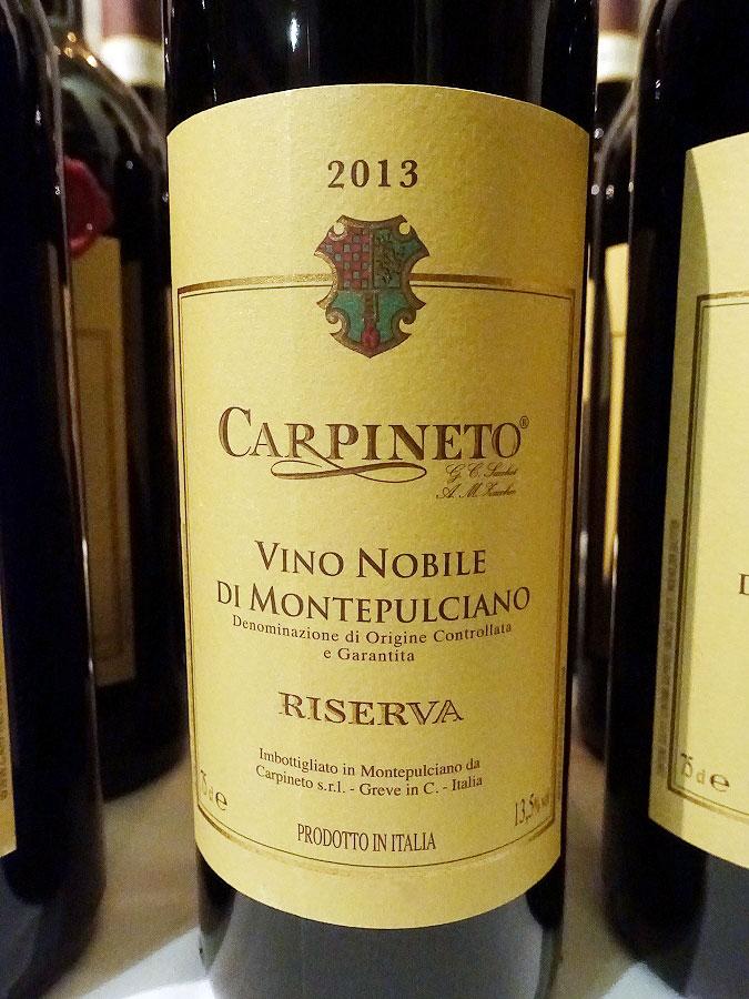 Carpineto Vino Nobile di Montepulciano Riserva 2013 (89 pts)