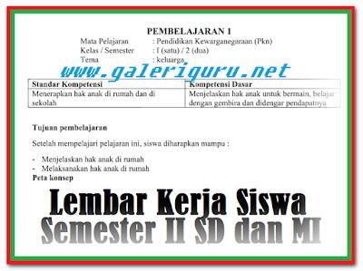 Download LKS Kurikulum 2013 SD Semua Kelas | Galeri Guru