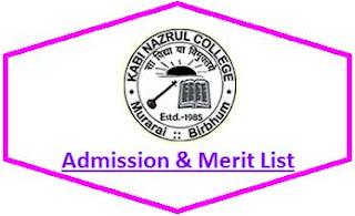 Kabi Nazrul College Merit List