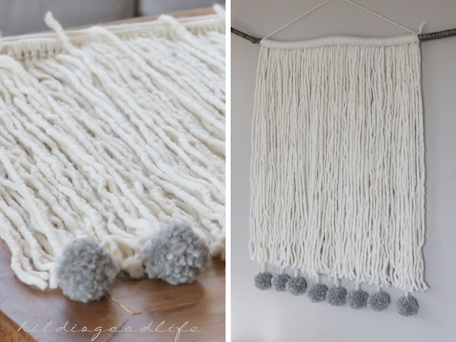 Woolen Wallhanger Detail Pompoms