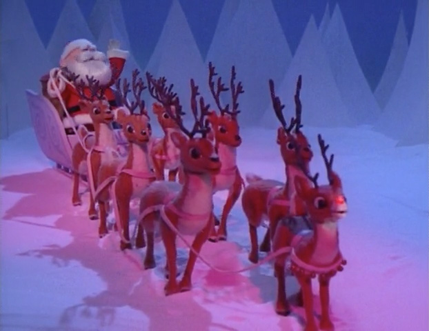 Real rudolph the red nosed reindeer flying - photo#32